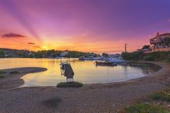 波尔图Heli,伯罗奔尼撒美丽如画的沿海城市的看法  库存照片
