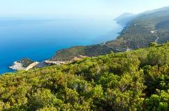 波尔图Katsiki海滩(Lefkada,希腊) 库存照片