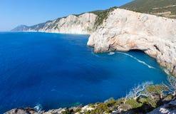波尔图Katsiki海滩(Lefkada,希腊) 免版税库存照片