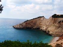 波尔图Katsiki海滩在希腊 免版税库存图片