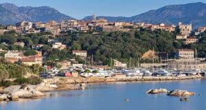 波尔图Vecchio夏天沿海风景  免版税库存图片