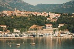 波尔图Vecchio镇沿海风景  库存图片