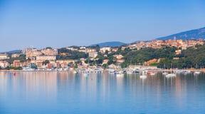 波尔图Vecchio镇,沿海都市风景 库存图片