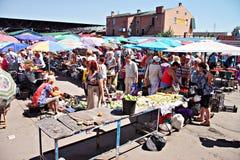 波尔塔瓦市场,乌克兰- 05威严2015年 免版税库存图片