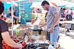 波尔塔瓦市场,乌克兰- 05威严2015年 免版税图库摄影