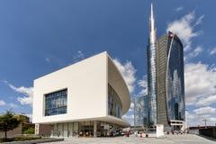 波尔塔的Nuova摩天大楼在米兰,意大利 免版税库存照片