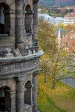 从波尔塔老黑的看法实验者的在秋天,德国 免版税库存图片