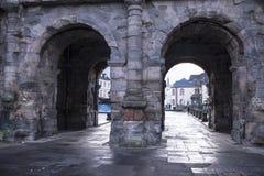 波尔塔老黑黑色门-最大和最保存良好的a 免版税库存图片