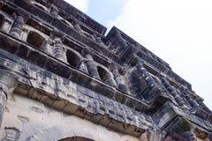 波尔塔老黑黑色门-最大和最保存良好 库存图片