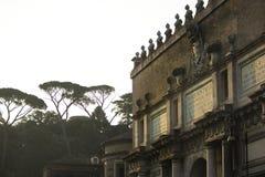波尔塔del Popolo - Piazza del Popolo -罗马 免版税库存照片