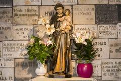 波尔塔di彼得拉在萨格勒布,克罗地亚 免版税库存照片