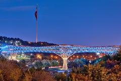 波尔布特e Tabiat或者自然桥梁,位于伊朗` s首都, Tehra 免版税库存图片