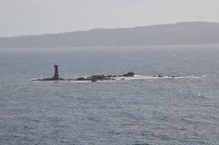 波尔托斯库索,撒丁岛看法  免版税库存图片