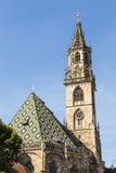 波尔查诺大教堂,意大利 免版税库存照片