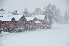 波尔沃老镇,芬兰 库存图片