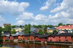 波尔沃,芬兰。 免版税库存图片