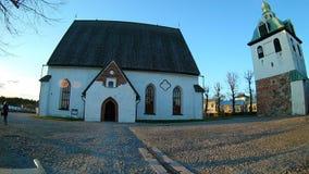 波尔沃,芬兰- 2017年4月, 30日:波尔沃/Porvoon tuomiokirkko的保佑的圣母玛丽亚的大教堂 股票视频