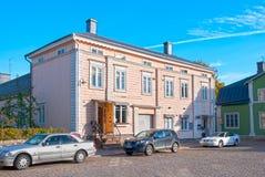 波尔沃 芬兰 一点巧克力工厂、商店和咖啡馆 库存照片