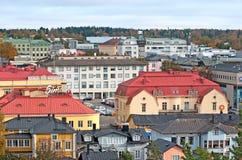 波尔沃 芬兰 镇的顶视图 免版税库存照片