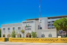 波尔蒂芒,葡萄牙- 2017年8月02日:海洋警察大厦在波尔蒂芒地区阿尔加威 图库摄影