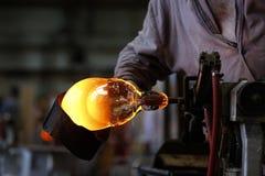 波希米亚水晶产业 库存图片
