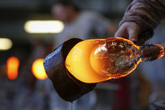 波希米亚水晶产业 免版税库存照片