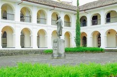 波帕扬,哥伦比亚- 2018年2月06日:吉列尔莫巴伦西亚国家博物馆是一个新古典主义的豪宅,修建在 免版税库存照片
