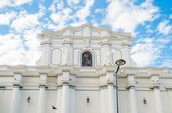 波帕扬,哥伦比亚- 2018年2月06日:大教堂basilica de nuestra se ora de la asunci n,大城市大教堂和 图库摄影