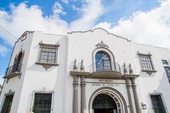 波帕扬,哥伦比亚- 2018年2月06日:大教堂basilica de nuestra se ora de la asunci n,大城市大教堂和 库存照片