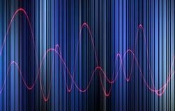 波形形式15 库存照片