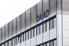 波恩,北莱茵-威斯特法伦/德国- 28 11 18:daad大厦和签到波恩德国 免版税图库摄影