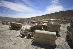 波托西玻利维亚银矿  库存图片