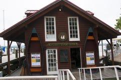 波托马克河的银行的船库在亚历山大在弗吉尼亚美国 免版税库存图片