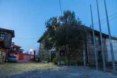 波摩莱的保加利亚历史部分的古希腊教会,平衡 免版税图库摄影