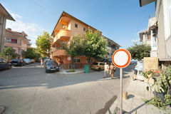 波摩莱老镇的街道在保加利亚 库存图片