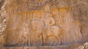 波斯国王的大墓地的雕刻 股票视频