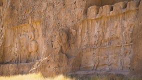 波斯国王的大墓地的雕刻 股票录像
