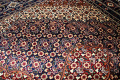 波斯地毯关闭 免版税库存照片