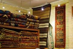 波斯地毯在伊斯法罕,伊朗 图库摄影