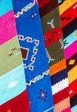 波斯地毯在摩洛哥,东方摩洛哥装饰品 免版税库存照片