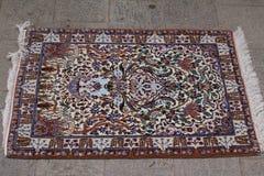波斯地毯在Nain,伊朗 库存照片