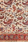波斯地毯特写镜头  免版税库存照片