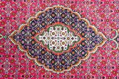 波斯地毯的细节 免版税库存图片