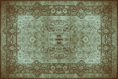 波斯地毯纹理,抽象装饰品 圆的坛场样式,中东传统地毯织品纹理 绿松石牛奶 免版税库存图片
