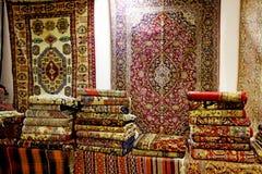波斯地毯艺术和工艺品  免版税库存图片