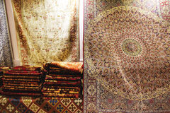 波斯地毯艺术和工艺品  免版税库存照片
