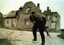 波斯尼亚人南北战争 库存照片