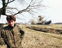 波斯尼亚人南北战争 图库摄影