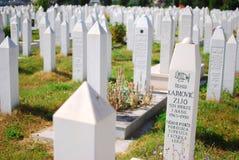 波斯尼亚墓地穆斯林萨拉热窝 免版税库存照片