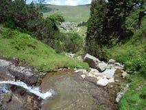 波斯尼亚山小河 库存图片